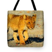 Lion - Id 16235-220310-4716 Tote Bag
