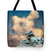 Lion In The Clouds Tote Bag