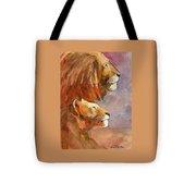 Lion, Lioness Tote Bag