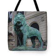 Lion Looking Out Tote Bag