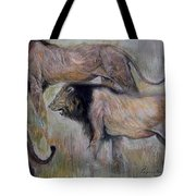 Lion On The Move Tote Bag