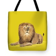 Lion Painting Tote Bag