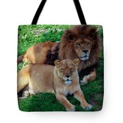Lion Pair Tote Bag