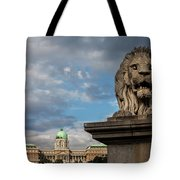 Lion Sculpture In Budapest Tote Bag