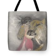 Lady And The Lion Tote Bag