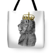 Lion The King Of The Jungle Tote Bag