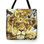 Lioness And Son Tote Bag