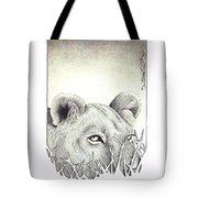Lioness Rising Tote Bag