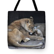 Lioness's Playing 2 Tote Bag