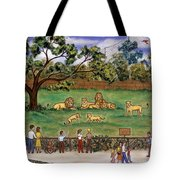 Lions At The Zoo Tote Bag
