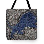 Lions Bottle Cap Mosaic Tote Bag by Paul Van Scott