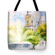 Lions Fountain Plaza Las Delicias  Ponce Cathedral Puerto Rico Tote Bag