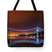 Lions Gate Bridge At Night 2 Tote Bag