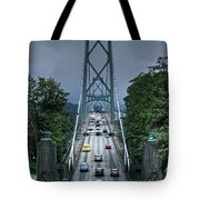 Lions Gate Bridge Tote Bag