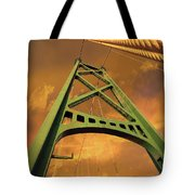 Lions Gate Bridge Tower Tote Bag