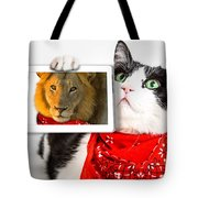 Lions Heart Cat Tote Bag by Benny Marty