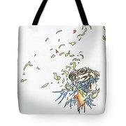 Lips Peeled Back Tote Bag