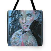 Lipstick And Leather Tote Bag