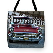 Lipstick Red At The Gate Tote Bag