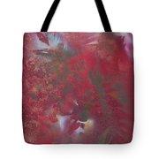Lipstick Red Illusion Tote Bag