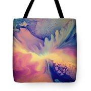 Liquid Abstract Nebula Tote Bag