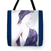 Liquid Blue - Self Portrait Tote Bag