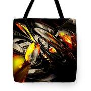 Liquid Chaos Abstract Tote Bag