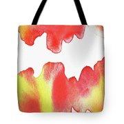 Liquid Fire Watercolor Abstract II Tote Bag