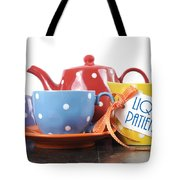 Liquid Patience Colorful Tea Set. Tote Bag
