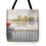 Lisbeth Angling. From A Home By Carl Larsson Tote Bag