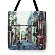 Lisboa Tram Route Tote Bag