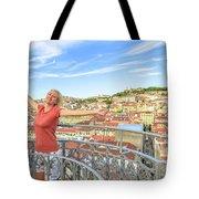 Lisbon Aerial Enjoying Tote Bag
