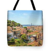 Lisbon Aerial View Tote Bag