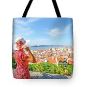 Lisbon Castle Woman Tote Bag