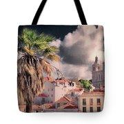 Lisbon Cityscape 4 Tote Bag