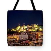 Lisbon Night Background Tote Bag