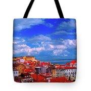 Lisbon Panorama Tote Bag