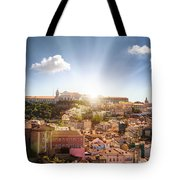 Lisbon Panoramic View To Afama Tote Bag