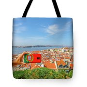Lisbon Pictures Aerial Tote Bag