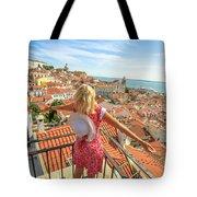 Lisbon Tourist Viewpoint Tote Bag