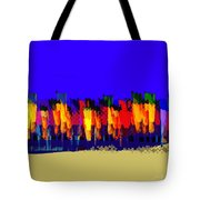 Lisse - Tulips Blue On Brown Tote Bag
