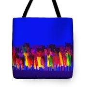 Lisse - Tulips Colors On Blue Tote Bag