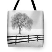 Listen The Snow Is Falling All Around Tote Bag