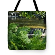 Listen To The Babbling Brook - Green Summer Zen Tote Bag