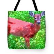 Listening Deer Tote Bag