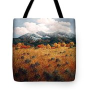 Listening To Mountains Tote Bag