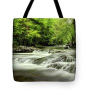 Listening To The Song Of The Stream Tote Bag