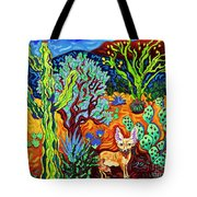 Listening To The Sounds Of The Universe Tote Bag