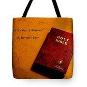 Literalism Tote Bag