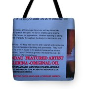 Little Ballerina By Carole Spandau Featured In Award Winning Online Article On Good Posture Mar 2010 Tote Bag
